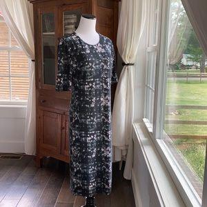 NWT Premise Navy Floral Stretch Sheath Dress, M